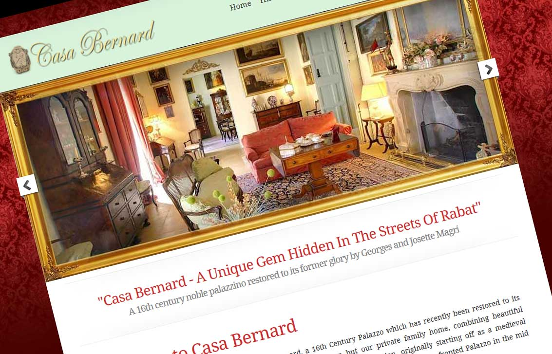 Casa Bernard Website