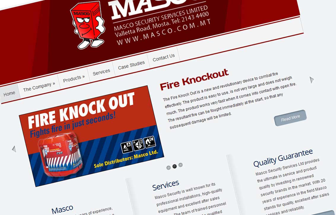 Masco Security Services Website